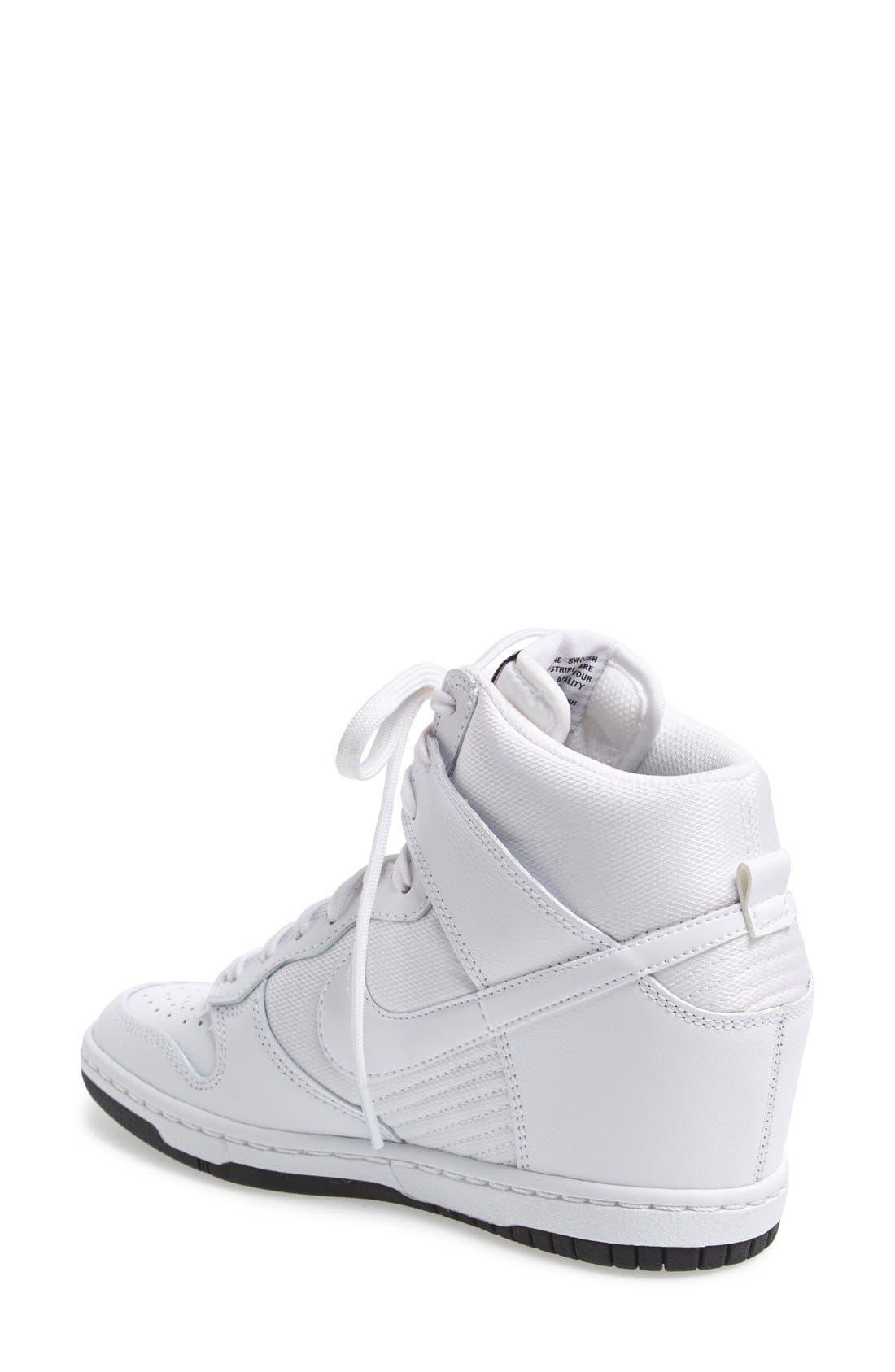 ,                             'Dunk Sky Hi - Essential' Wedge Sneaker,                             Alternate thumbnail 39, color,                             101