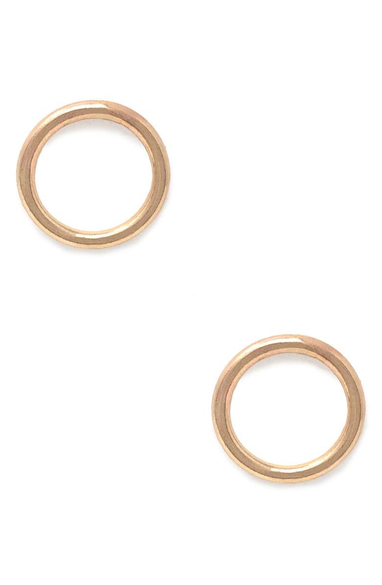 ABLE Celine Stud Earrings, Main, color, GOLD