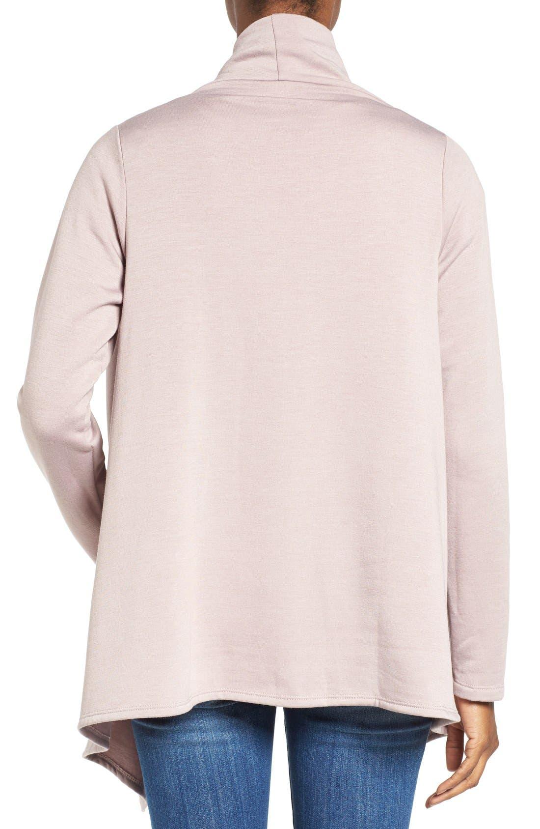 ,                             One-Button Fleece Wrap Cardigan,                             Alternate thumbnail 213, color,                             667