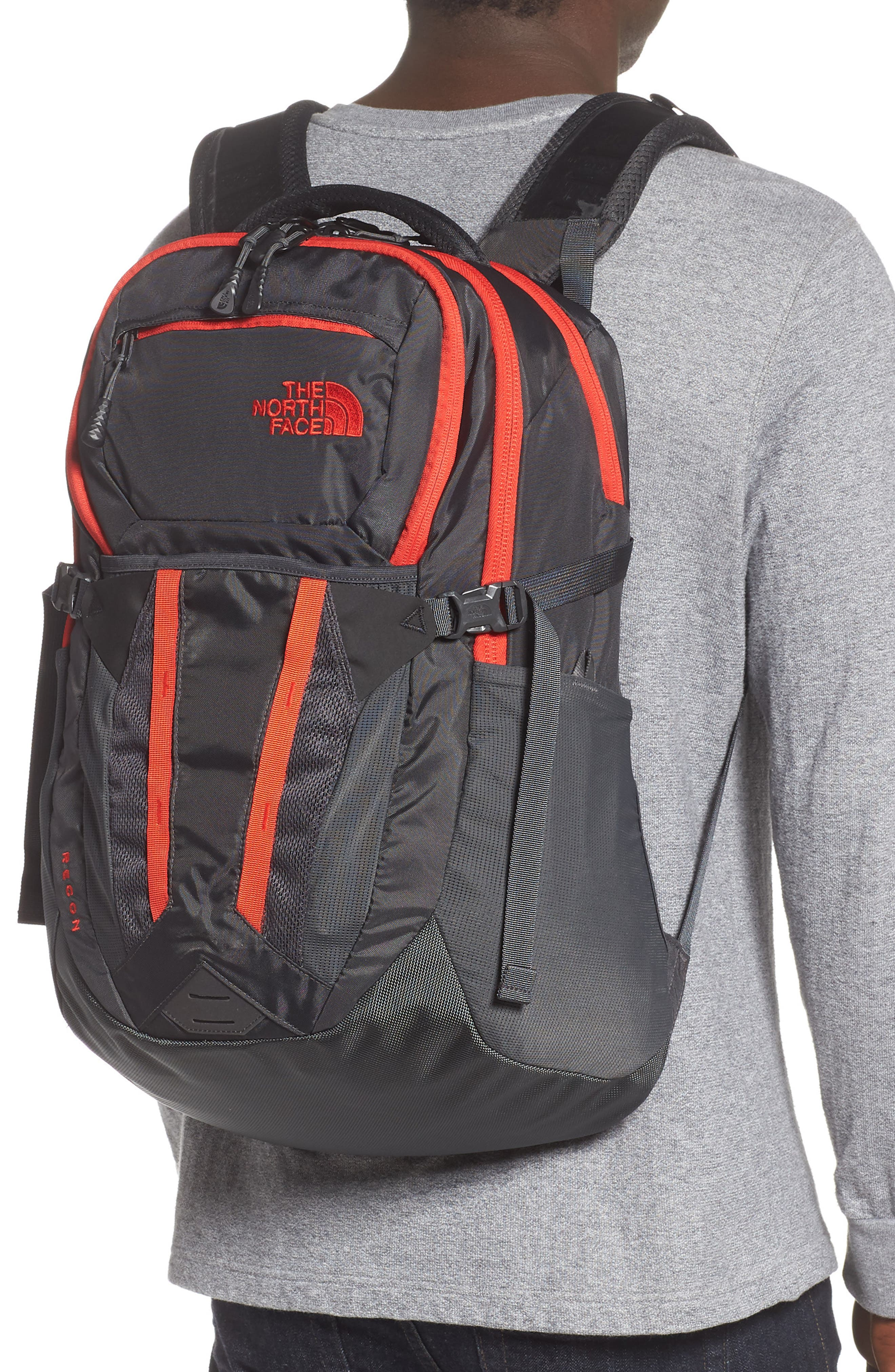 ,                             Recon Backpack,                             Alternate thumbnail 2, color,                             ASPHALT GREY / FIERY RED