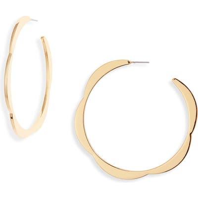 Kate Spade New York Sliced Scallop Hoop Earrings