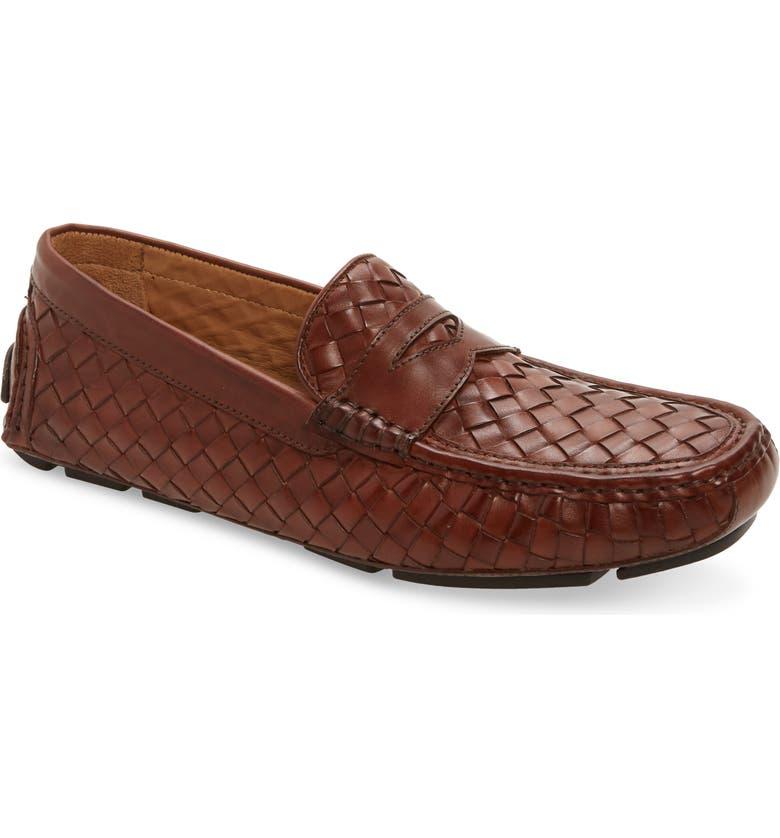 NORDSTROM MEN'S SHOP Vince Driving Shoe, Main, color, TAN LEATHER