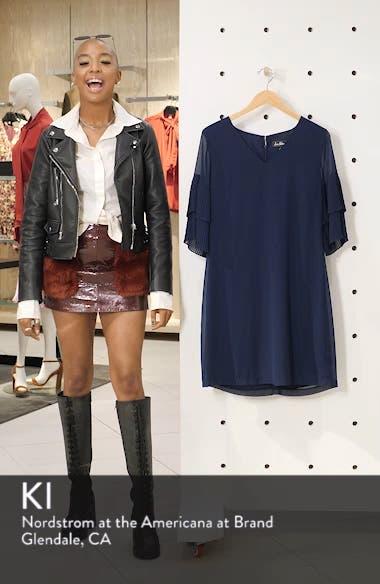 Pleat Sleeve Shift Dress, sales video thumbnail