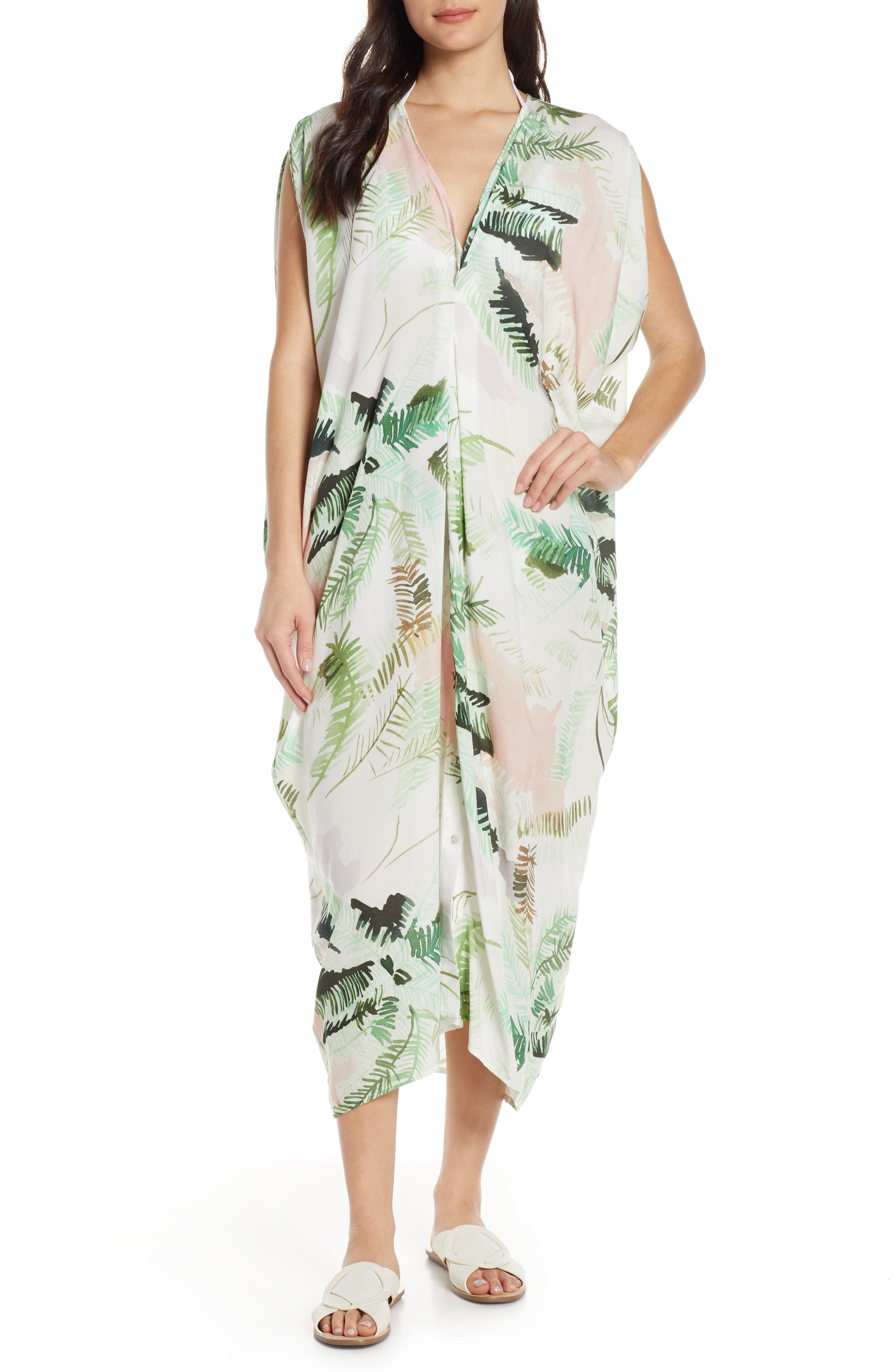 Lenny Niemeyer Floral Cover-Up Caftan, Green