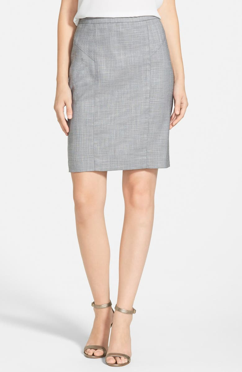 HALOGEN<SUP>®</SUP> Crosshatch Suit Skirt, Main, color, 050