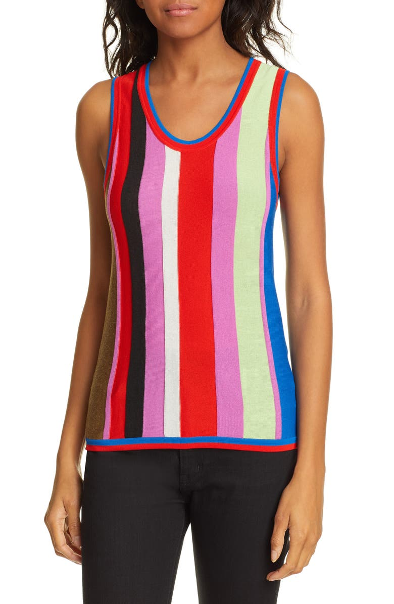 DVF Carolina Stripe Knit Top, Main, color, 650