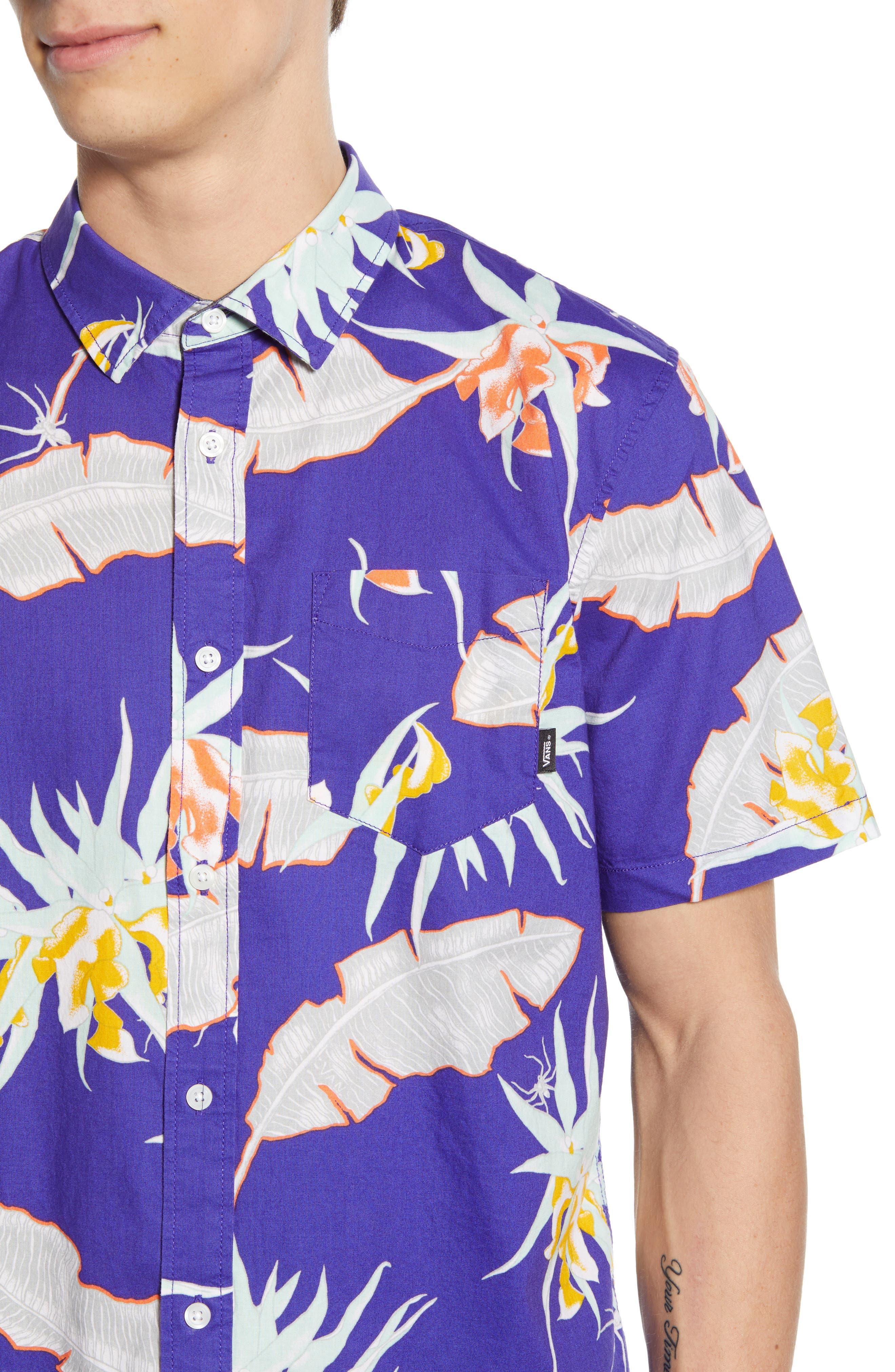 ,                             Arachnofloria Print Shirt,                             Alternate thumbnail 2, color,                             VANS PURPLE
