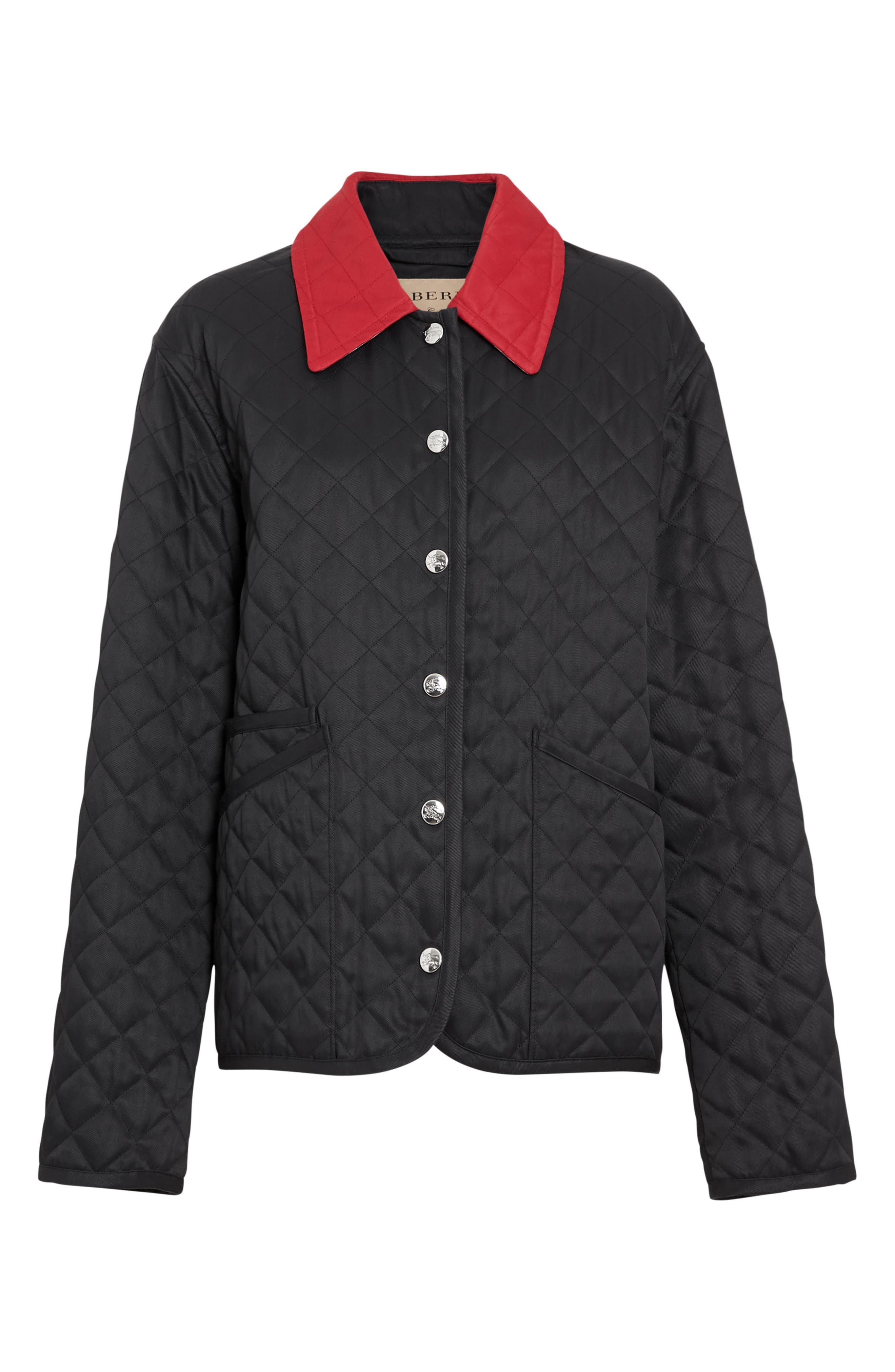 ,                             Dranefield Diamond Quilted Jacket,                             Alternate thumbnail 4, color,                             BLACK