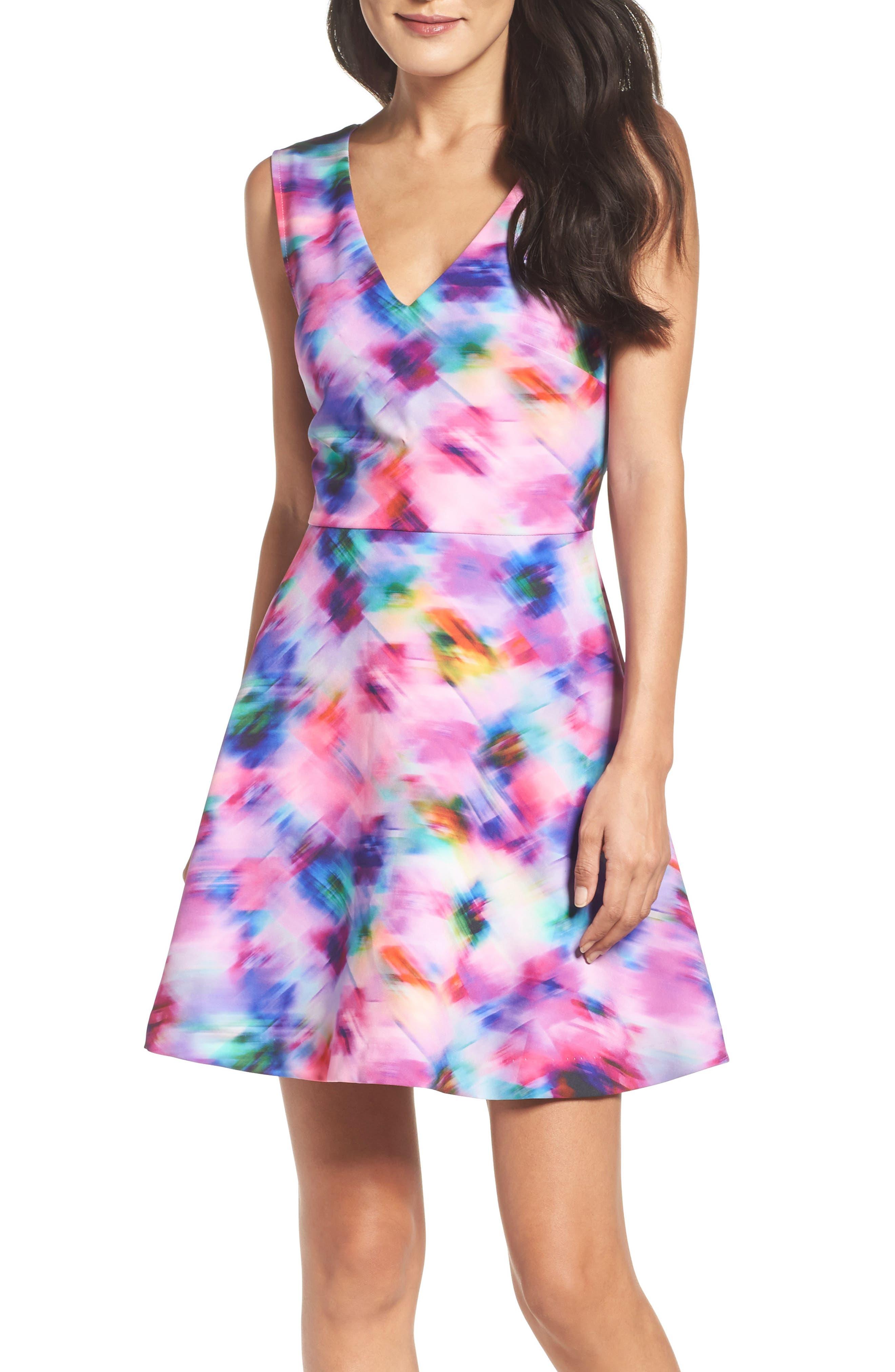 ,                             Bianca Back Cutout Fit & Flare Dress,                             Alternate thumbnail 59, color,                             519