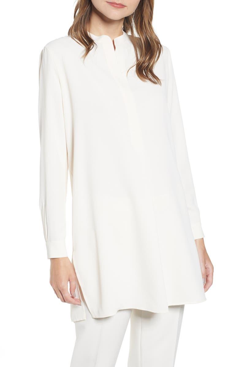 ANNE KLEIN Tunic Shirt, Main, color, ANNE WHITE