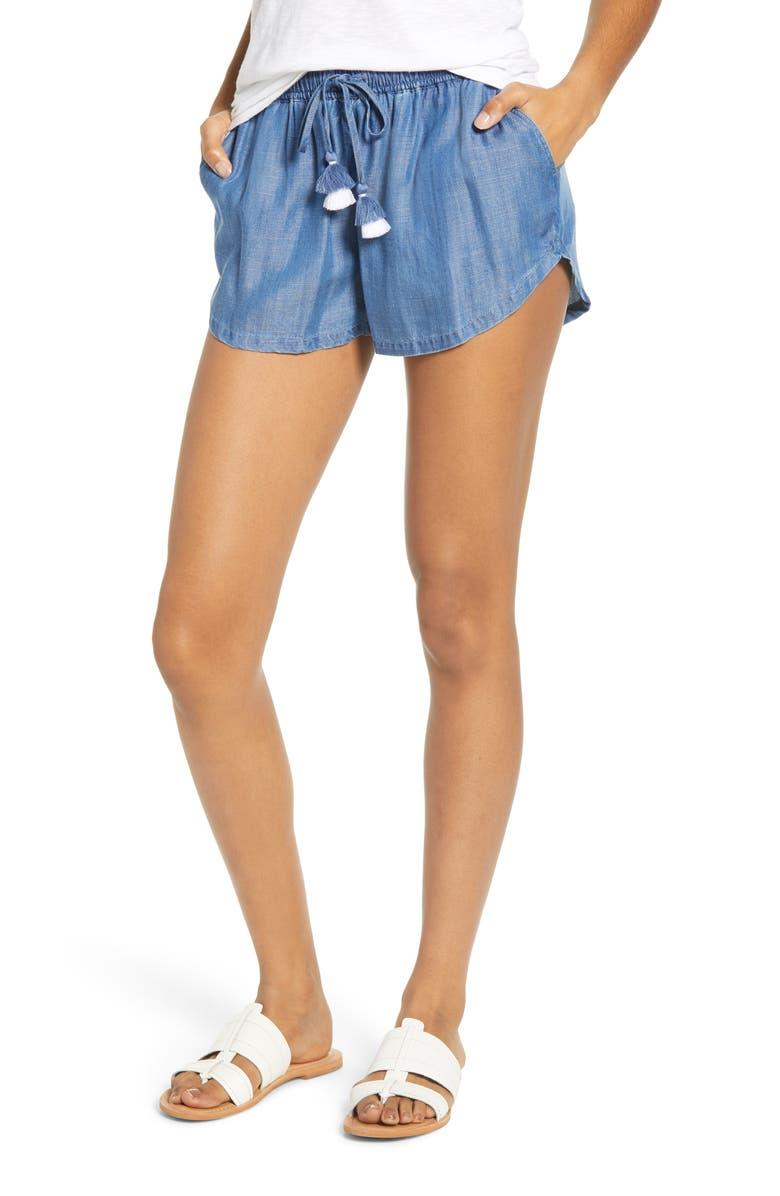 VINEYARD VINES Drawstring Chambray Shorts, Main, color, 401