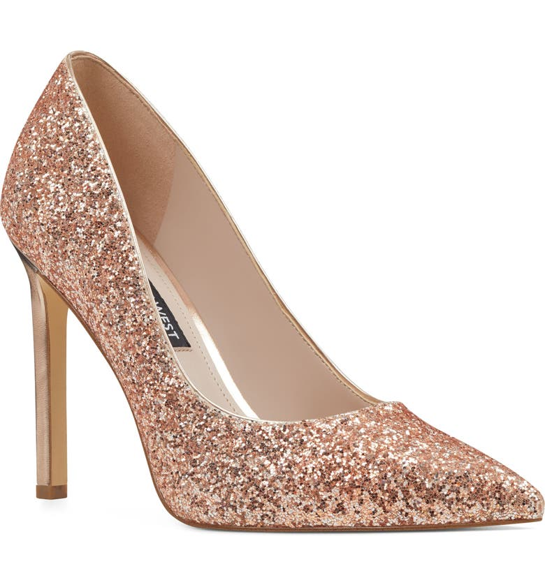 NINE WEST 'Tatiana' Pointy Toe Pump, Main, color, BLUSH LEATHER