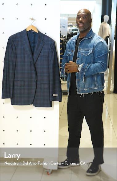 Sienna Soft Classic Fit Plaid Wool & Cashmere Sport Coat, sales video thumbnail