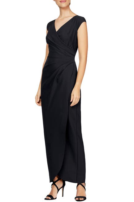 Image of Alex Evenings Surplice Wrap Style Gown