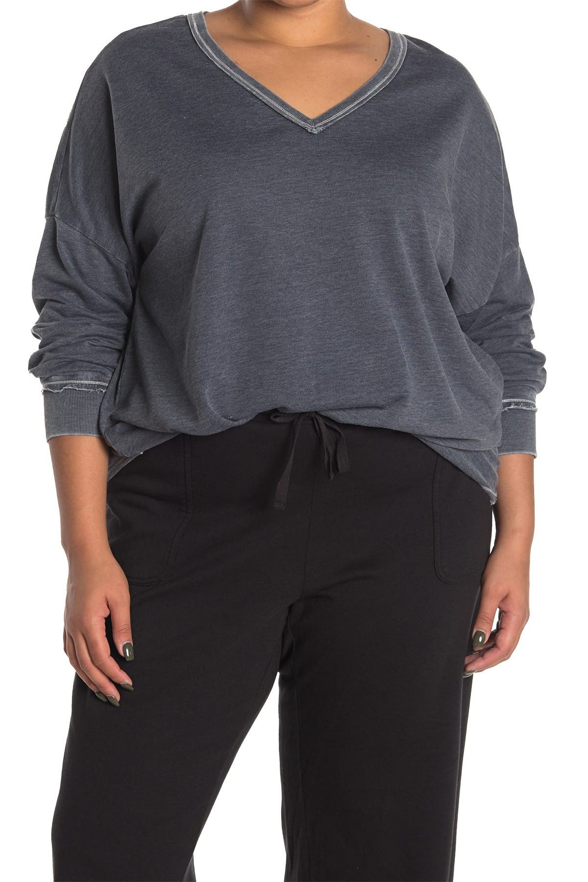 Image of XCVI Fira Heathered Burnout Terry Pullover