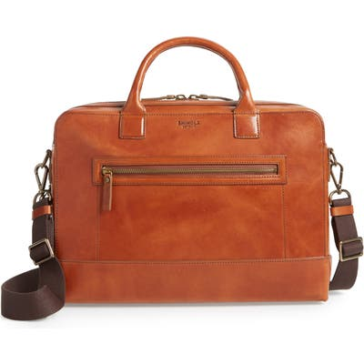 Shinola Harness Bedrock Leather Briefcase - Metallic