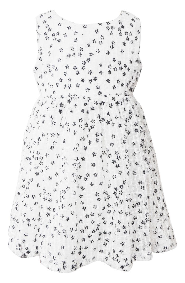 POPATU Floral Tulle Dress, Main, color, WHITE