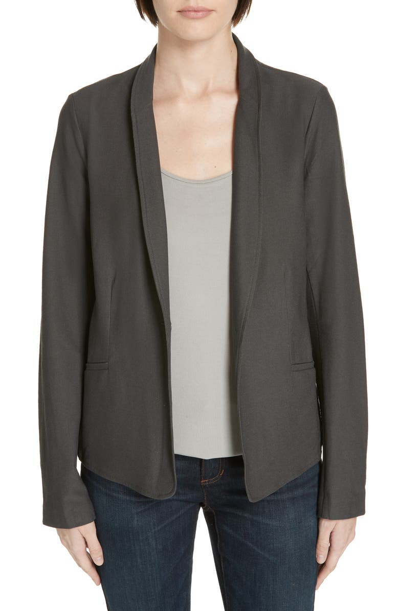 EILEEN FISHER Washable Stretch Crepe Jacket, Main, color, 210