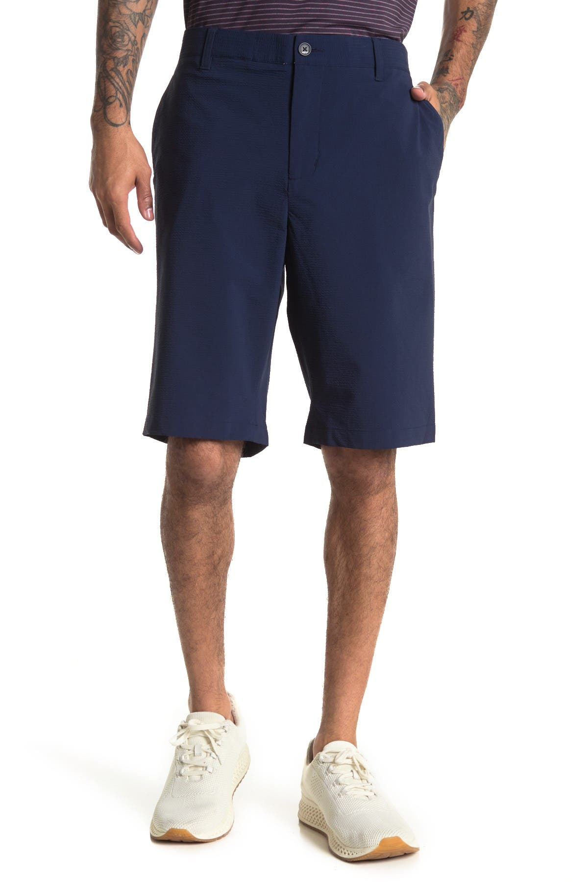 Image of Adidas Golf Adipure Seersucker Shorts