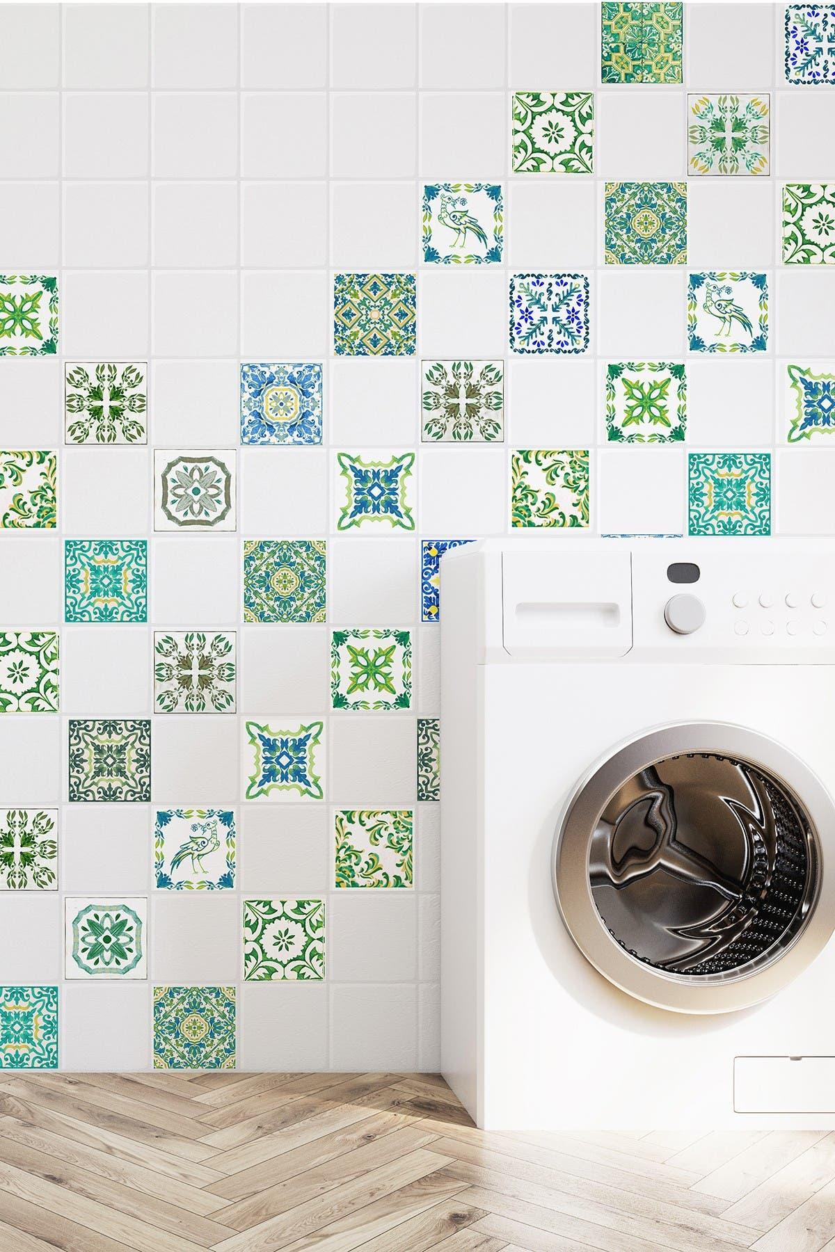 Image of WalPlus Green Turkish Mosaic Tile Sticker
