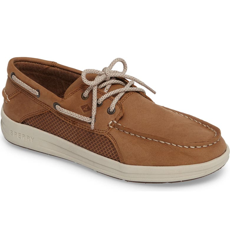 SPERRY KIDS Sperry Gamefish Boat Shoe, Main, color, DARK TAN