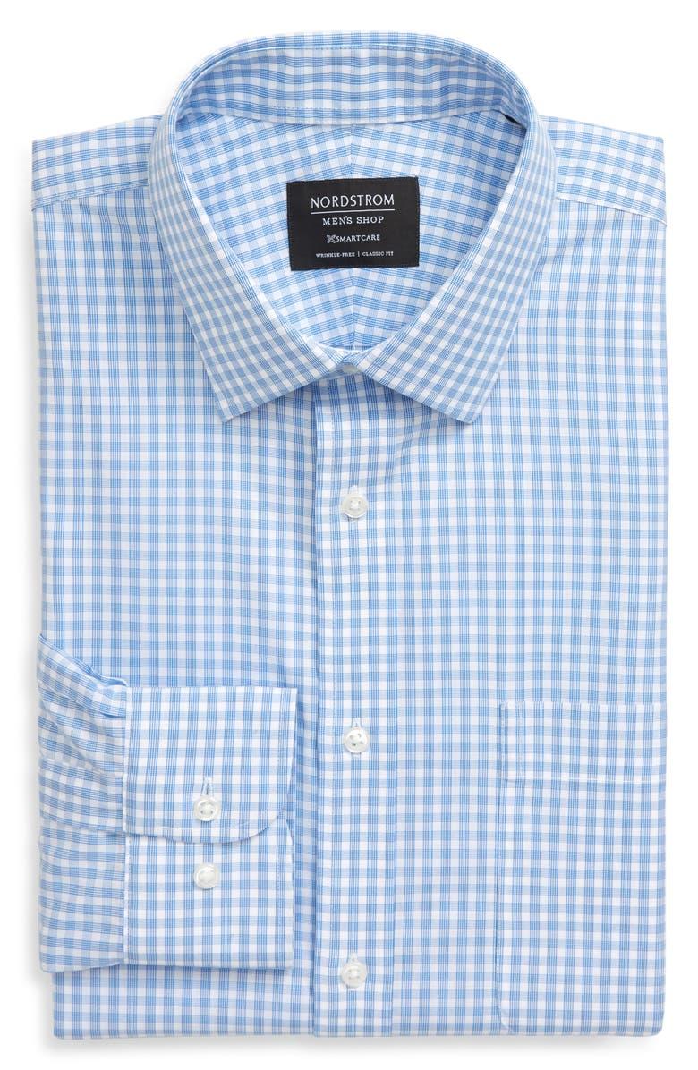 NORDSTROM MEN'S SHOP Smartcare<sup>™</sup> Classic Fit Check Dress Shirt, Main, color, BLUE CAMP