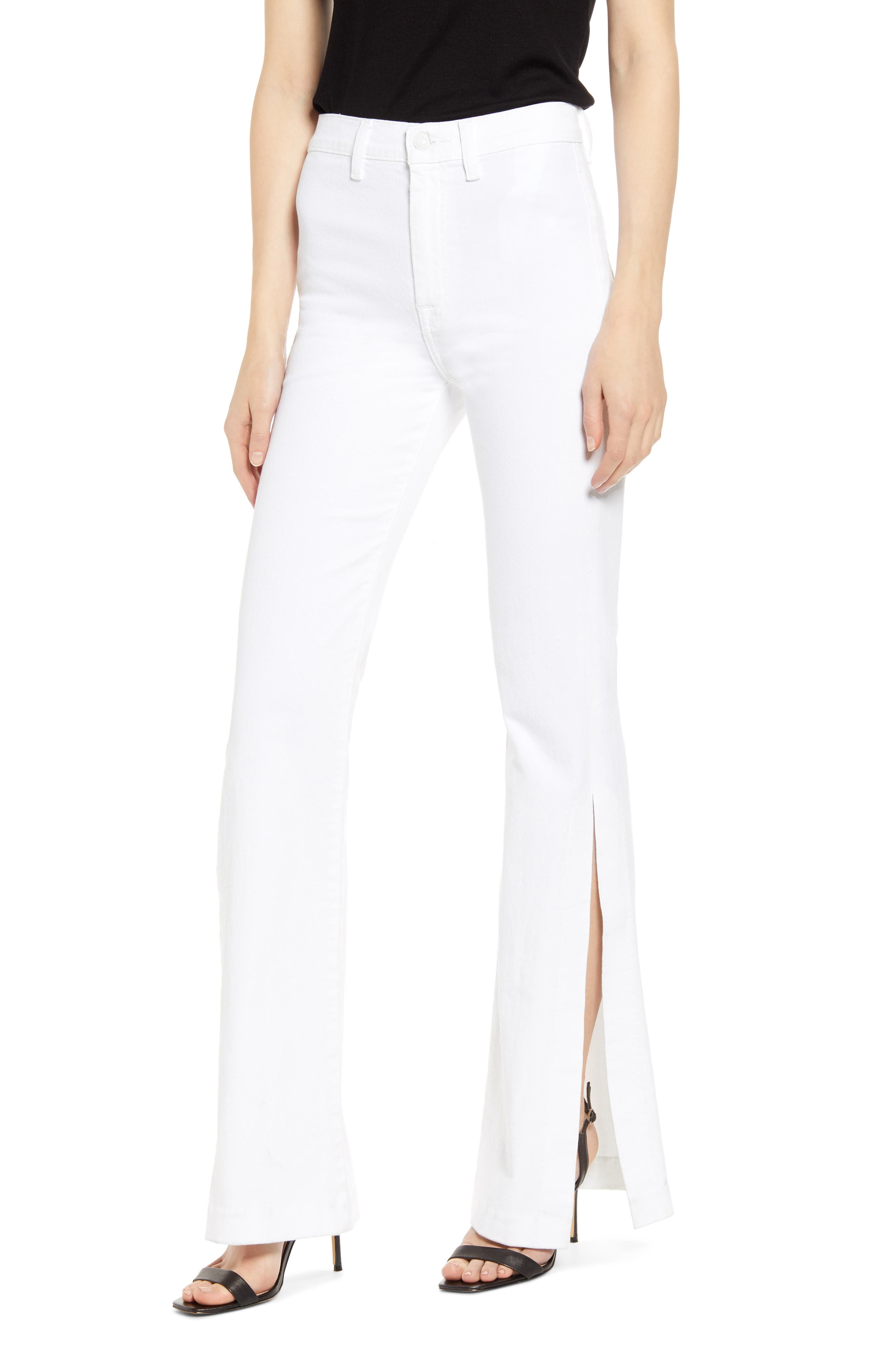 7 For All Mankind Cottons HIGH SLIT FLARE PANT