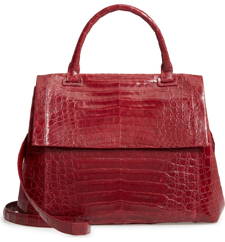 NANCY GONZALEZ Medium Sophie Genuine Crocodile Top Handle Bag, Main, color, 602