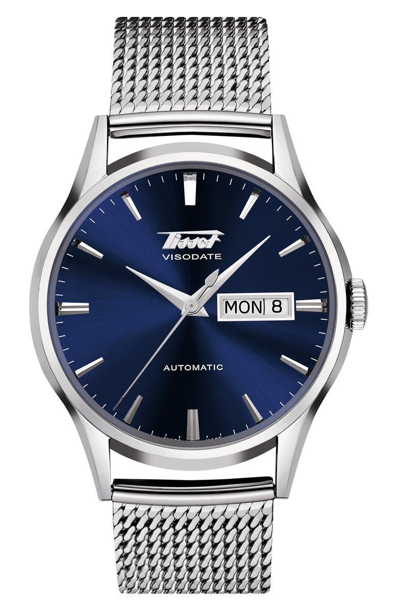 Tissot Heritage Visodate Automatic Mesh Strap Watch 40mm