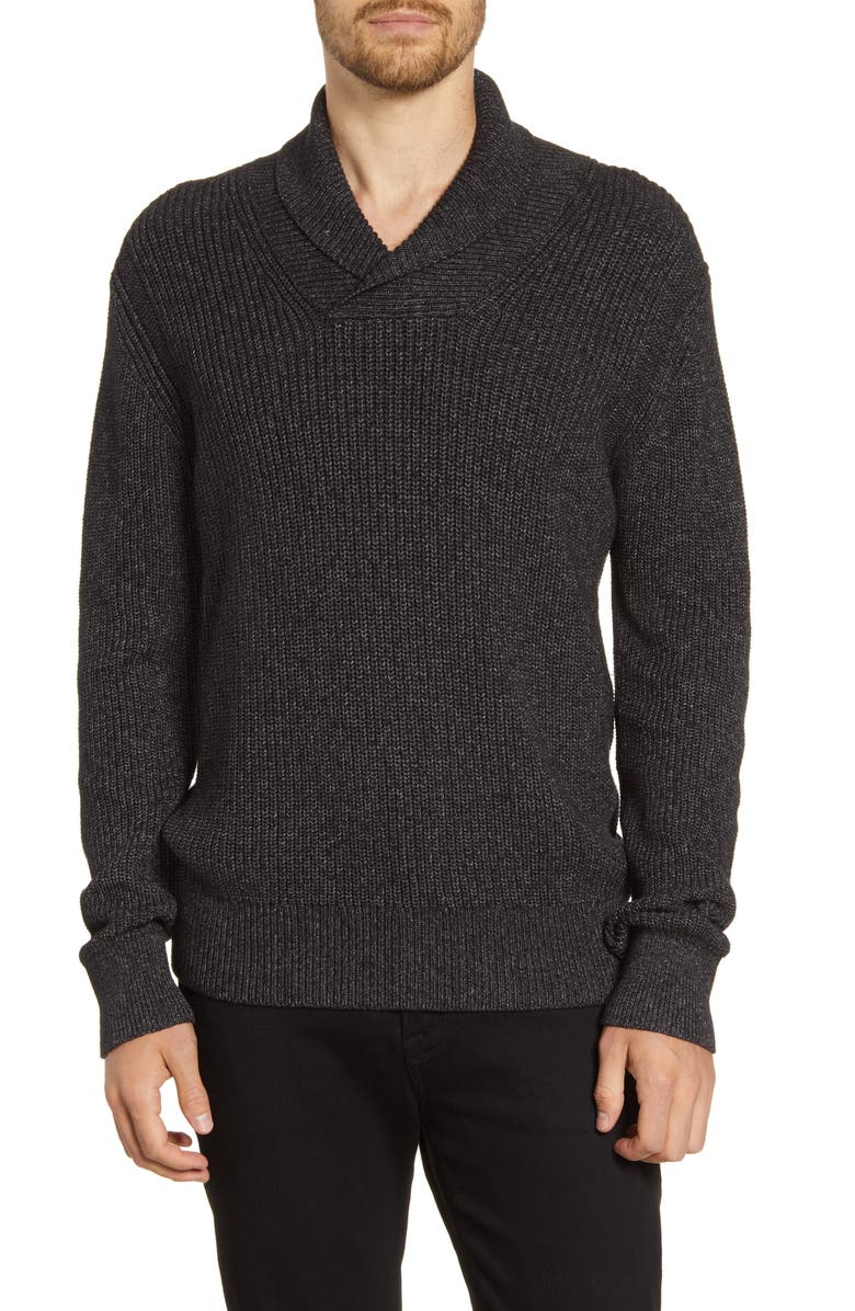 FRENCH CONNECTION Marled Shawl Collar Sweater, Main, color, 020