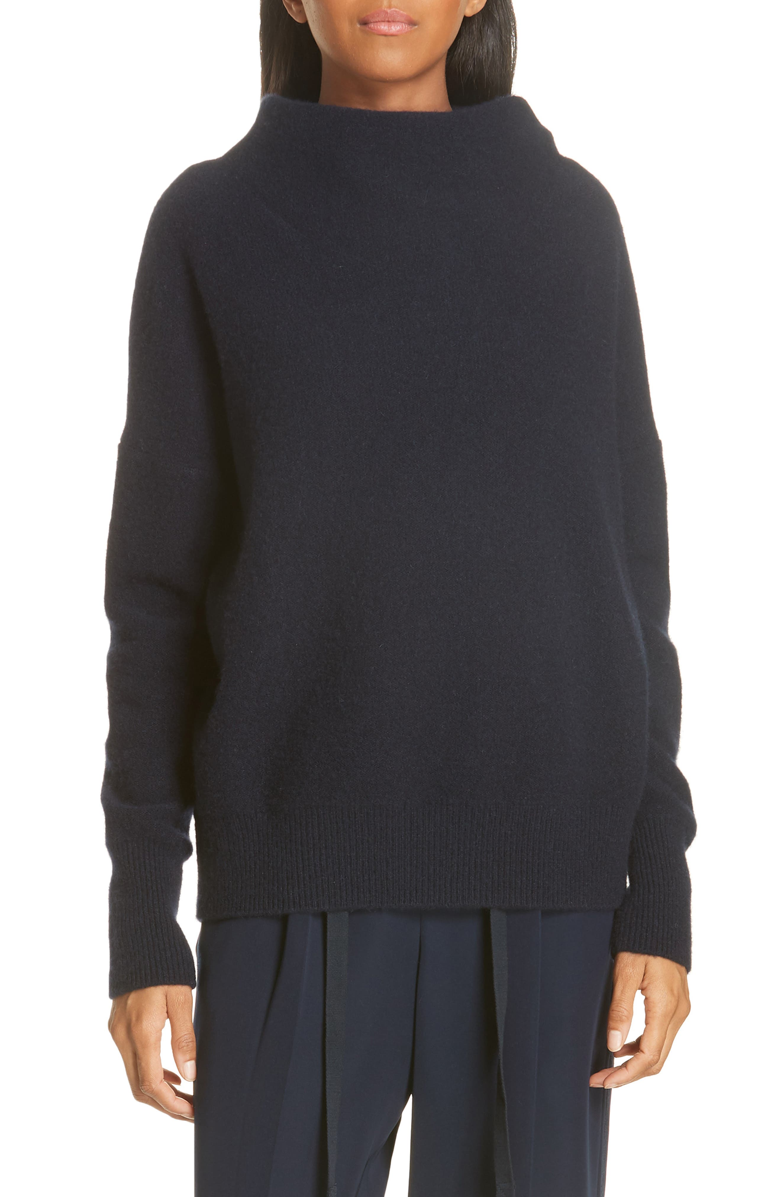 ,                             Funnel Neck Cashmere Sweater,                             Main thumbnail 8, color,                             403