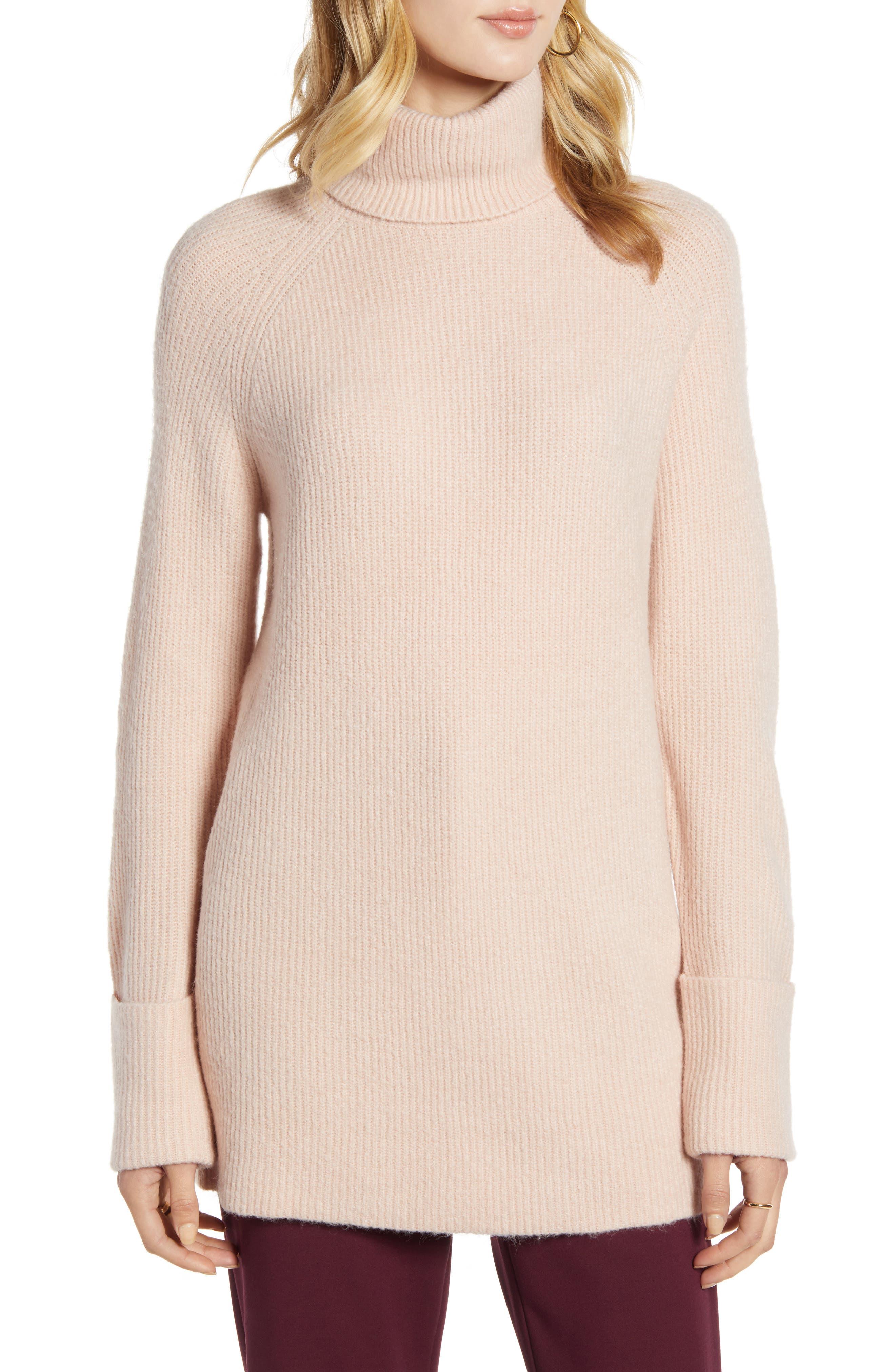 Halogen® Ribbed Turtleneck Sweater
