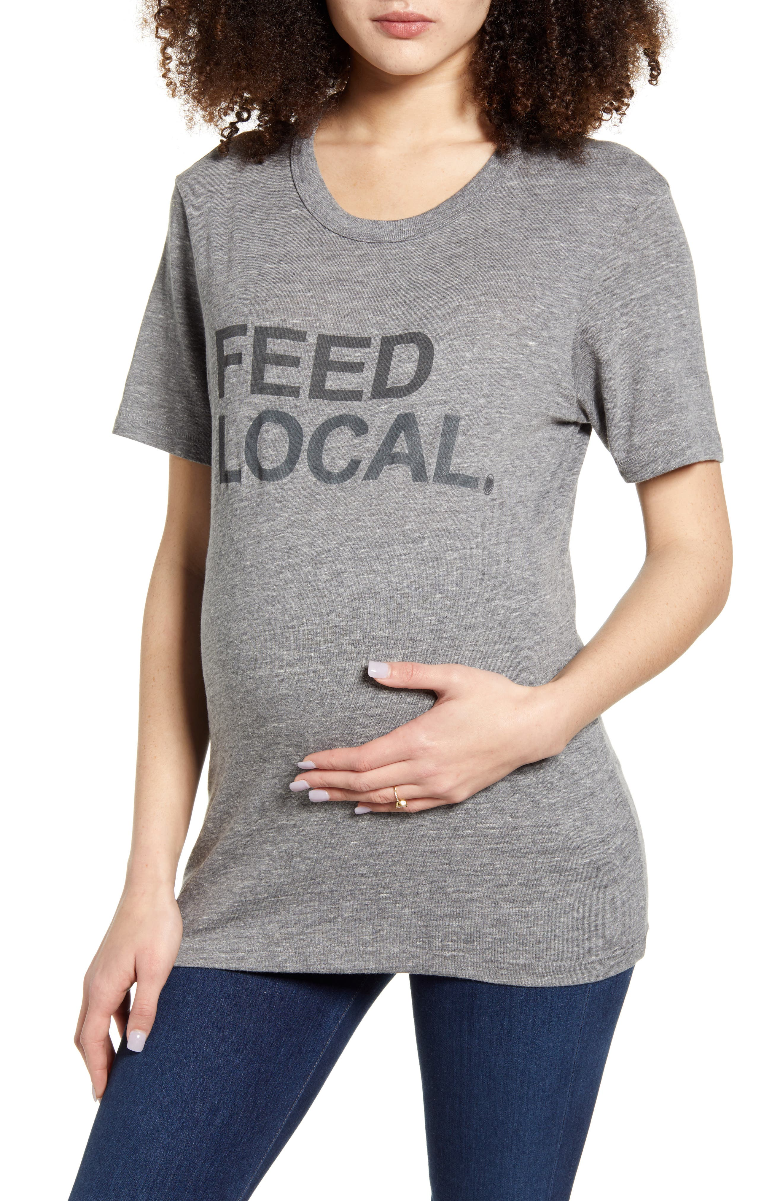 Feed Local Maternity Graphic Tee