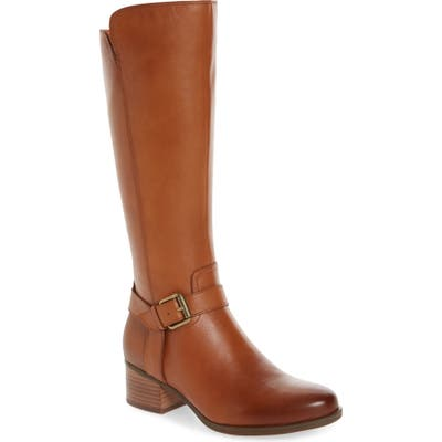 Naturalizer Dalton Tall Boot Wide Calf- Brown