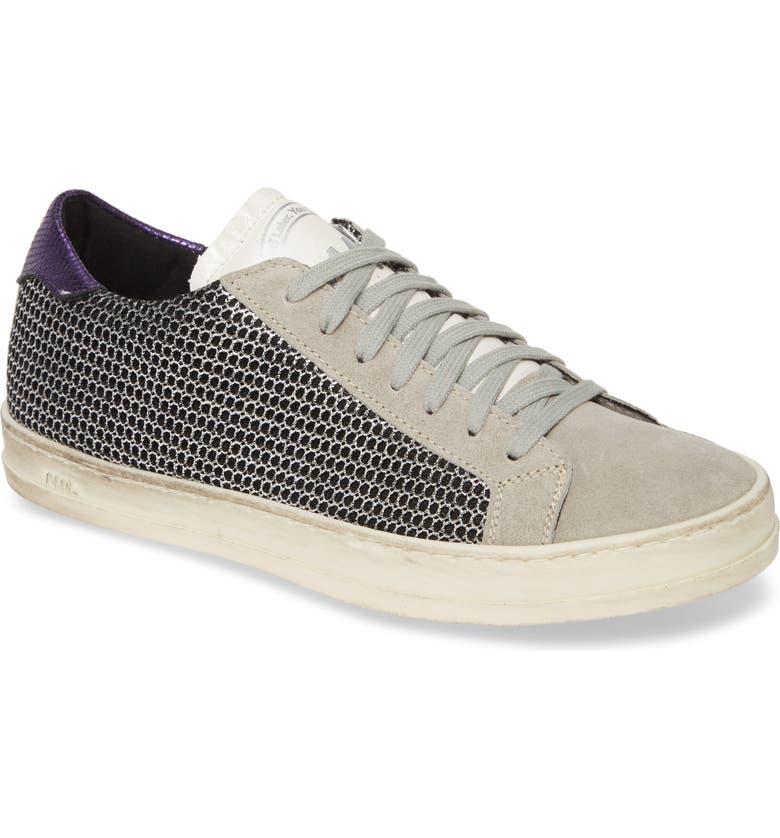 P448 John Low Top Sneaker, Main, color, SILVERMESH