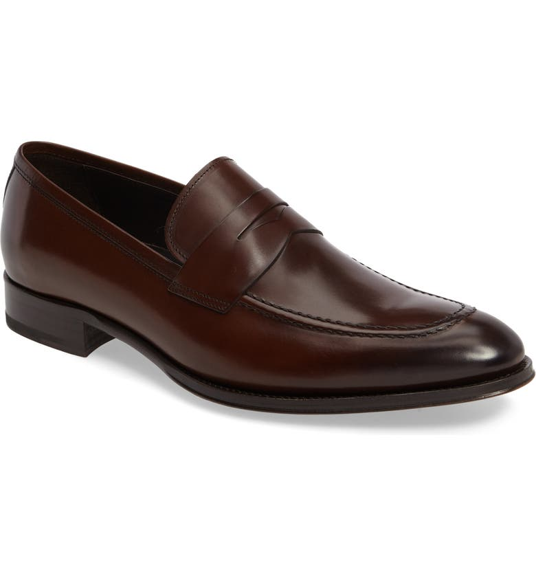 TO BOOT NEW YORK Alexander Penny Loafer, Main, color, MARRONE LEATHER