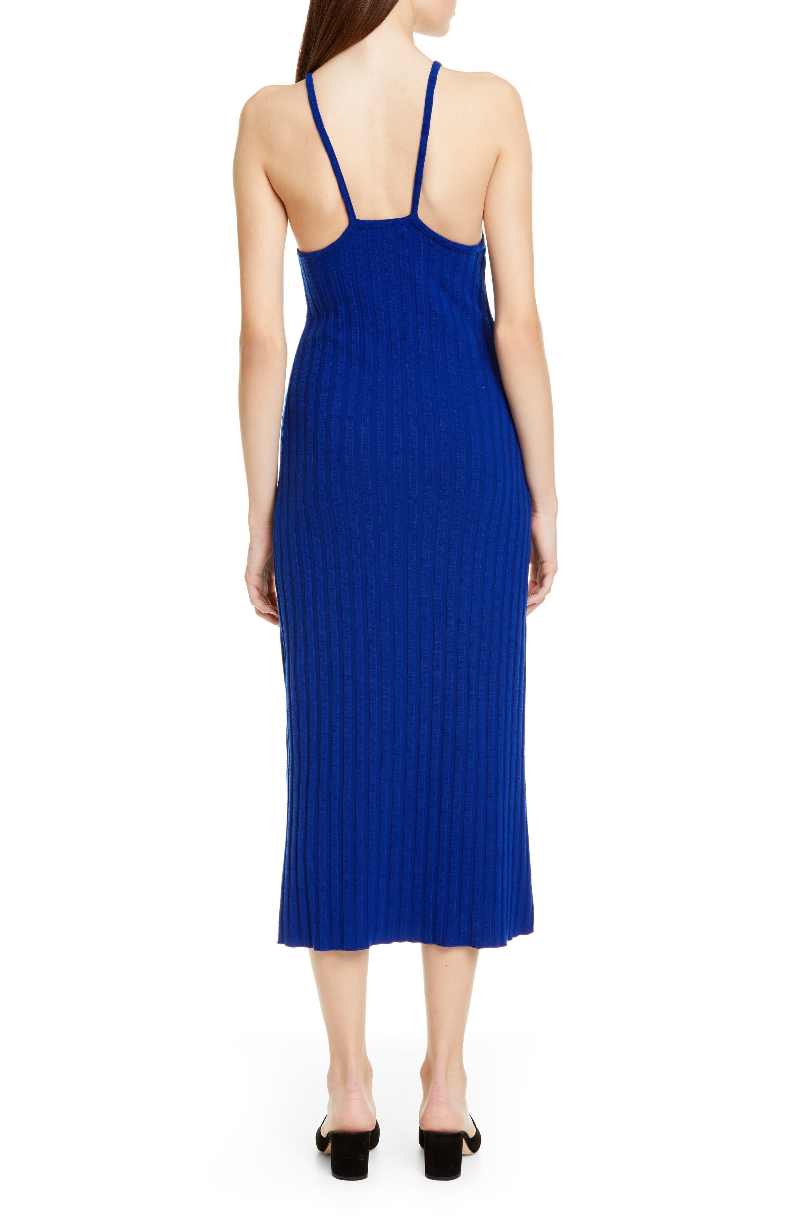 ,                             Matomi Rib Dress,                             Alternate thumbnail 2, color,                             ELECTRIC BLUE