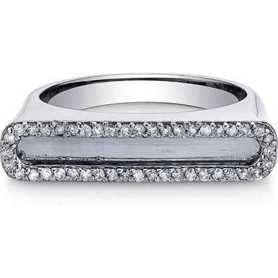 Sheryl Lowe Pave Diamond Frame Bar Ring