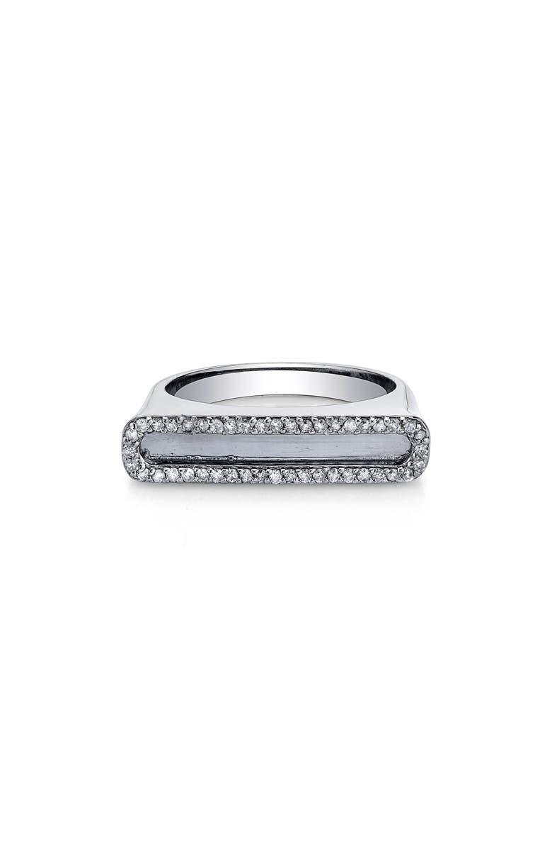 SHERYL LOWE Pavé Diamond Frame Bar Ring, Main, color, 040