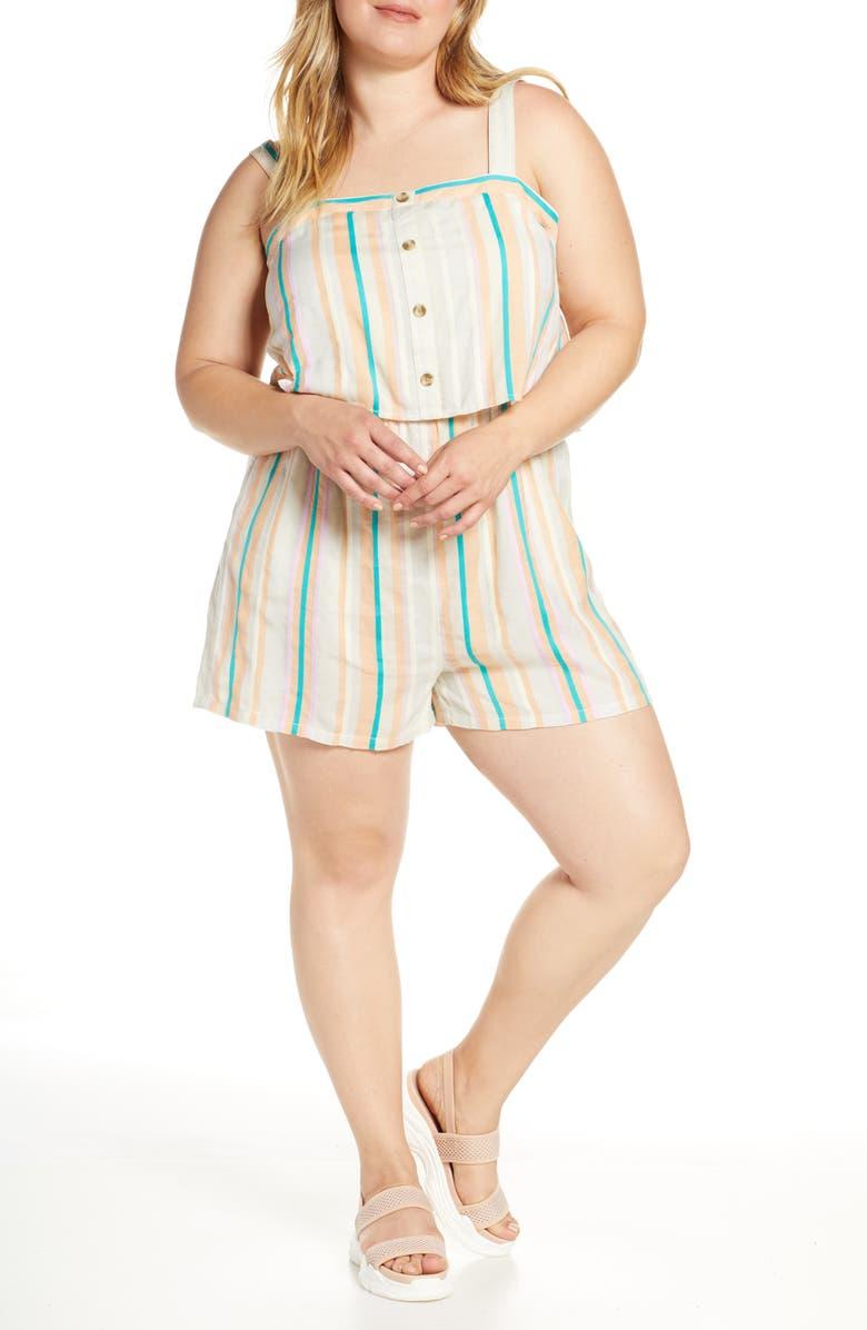 BP. Stripe Popover Romper, Main, color, 900