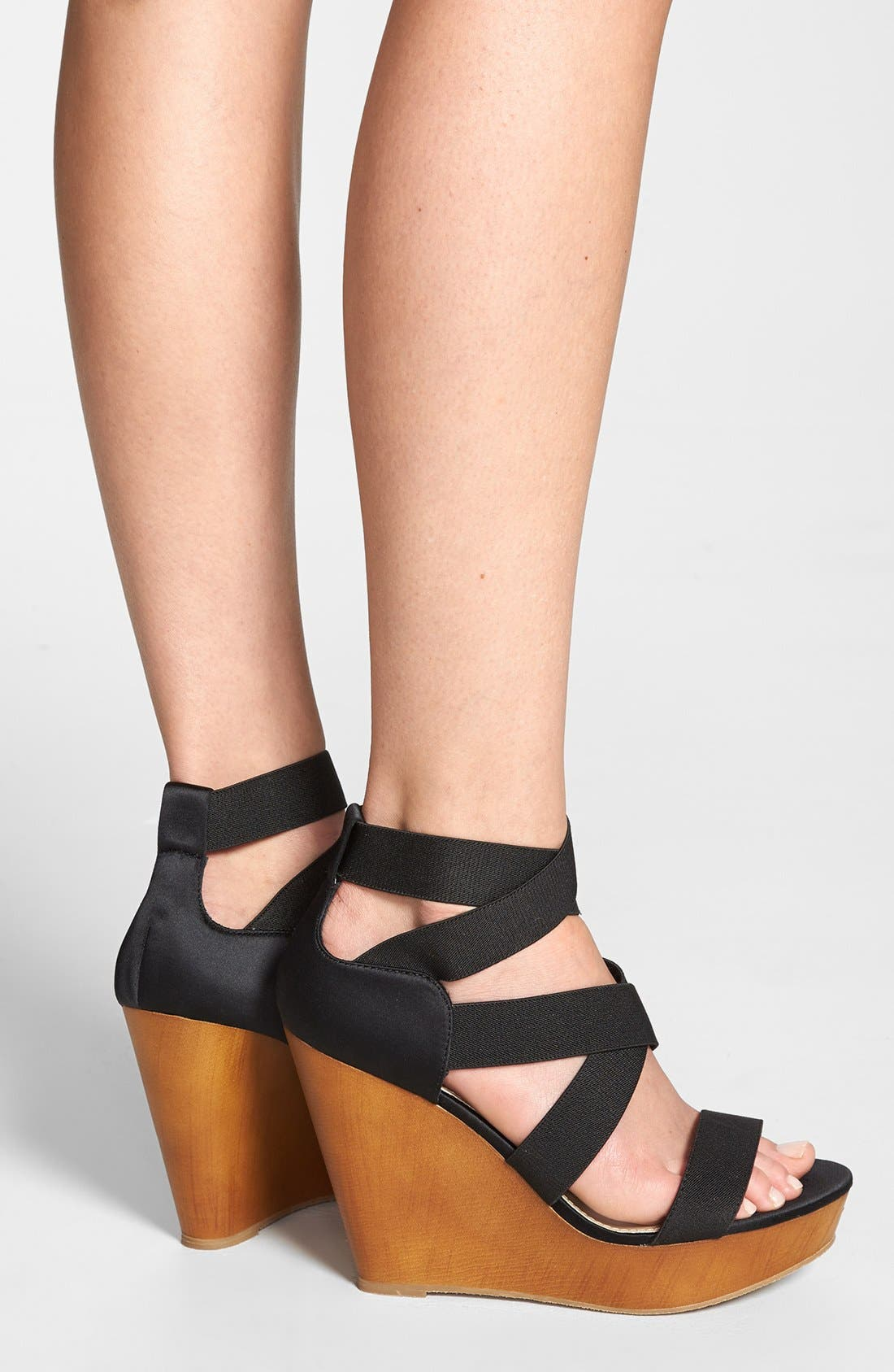 ,                             'Val' Wedge Sandal,                             Alternate thumbnail 5, color,                             001