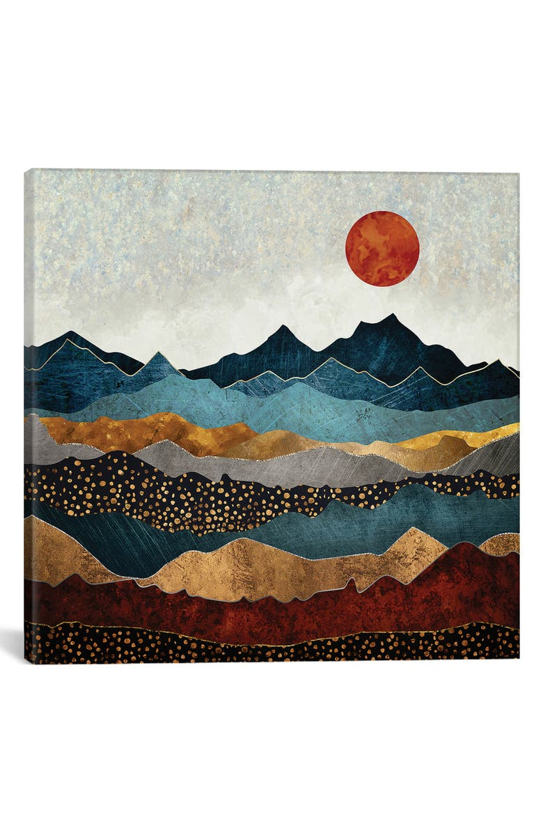 ICANVAS Amber Dusk by Spacefrog Design Giclée Print Canvas Art, Main, color, BLUE/ GREEN