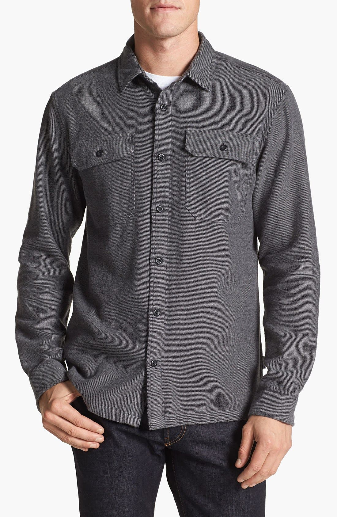 ,                             'Fjord' Regular Fit Organic Cotton Flannel Shirt,                             Main thumbnail 61, color,                             021