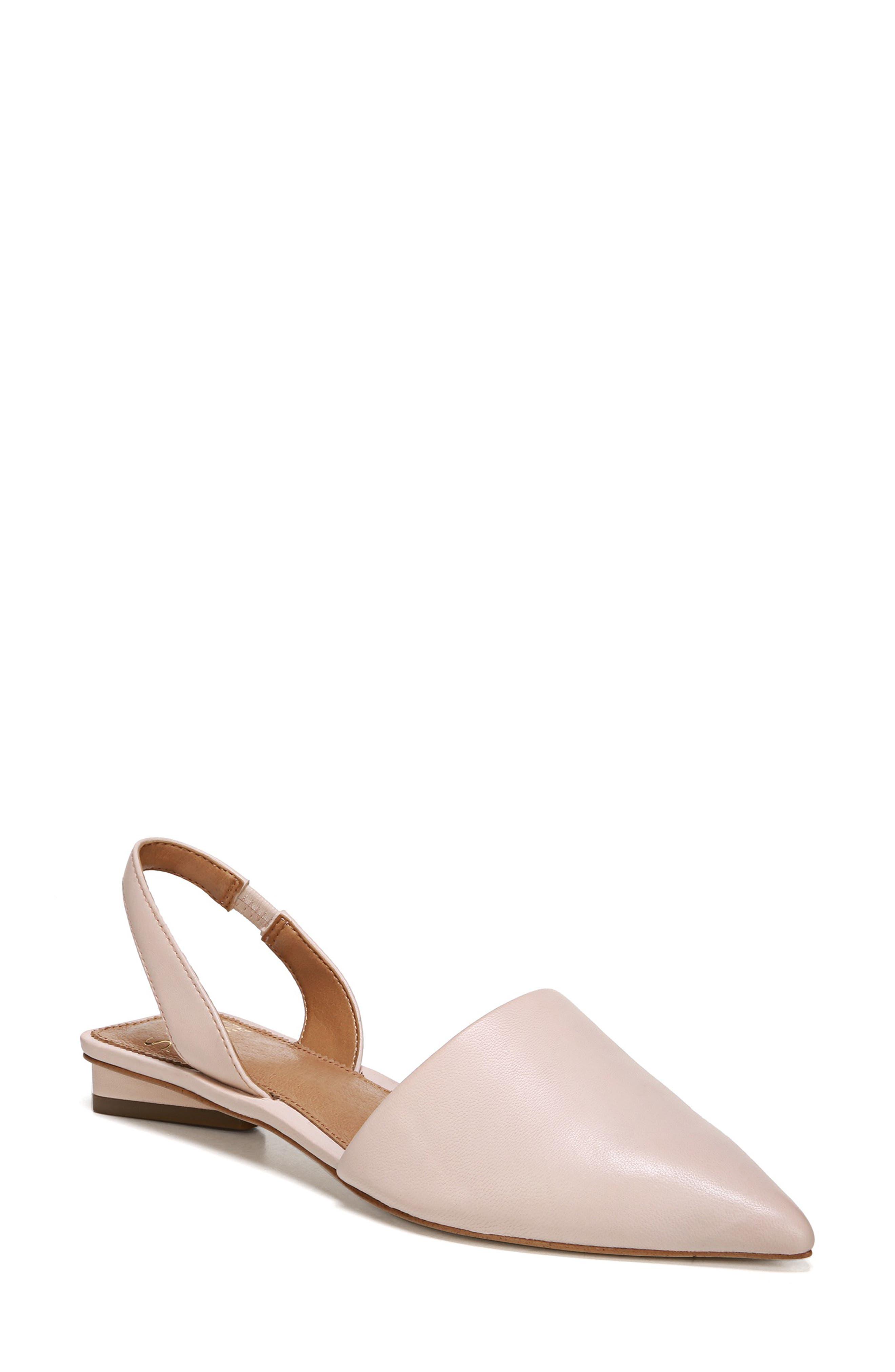 Sarto By Franco Sarto Graydon Pointy Toe Slingback Flat, Pink
