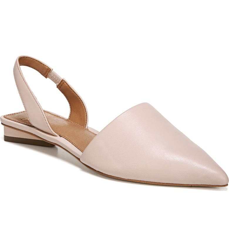 SARTO BY FRANCO SARTO Graydon Pointy Toe Slingback Flat, Main, color, BLUSH NAPPA LEATHER