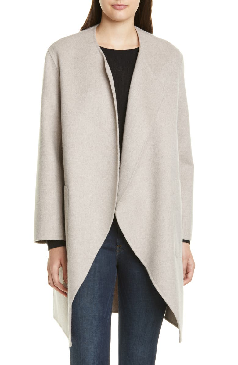 NORDSTROM SIGNATURE Double Face Wool & Cashmere Coat, Main, color, 260