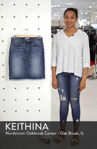 Raw Hem Denim Pencil Skirt, sales video thumbnail