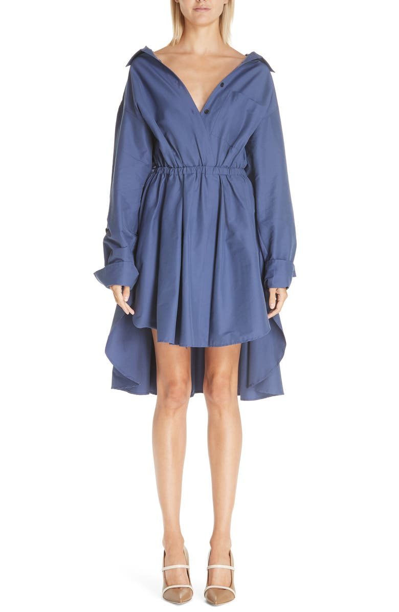 BY ANY OTHER NAME High/Low Shirtdress, Main, color, SAPPHIRE BLUE