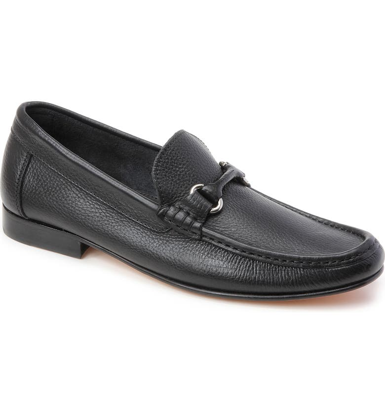 SANDRO MOSCOLONI Marion Bit Loafer, Main, color, BLACK LEATHER