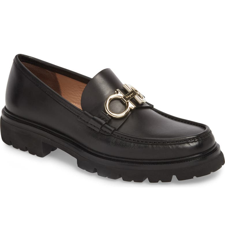 SALVATORE FERRAGAMO Bleecker Reversible Bit Lugged Loafer, Main, color, 001